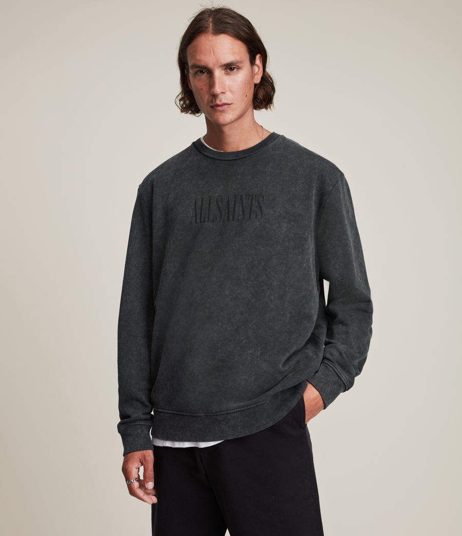 Hommes Gallo Crew Sweatshirt (washed_black) - Image 1