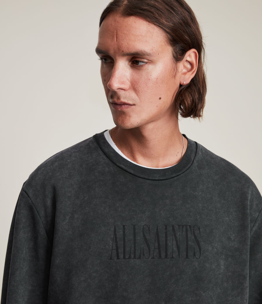 Hommes Gallo Crew Sweatshirt (washed_black) - Image 3