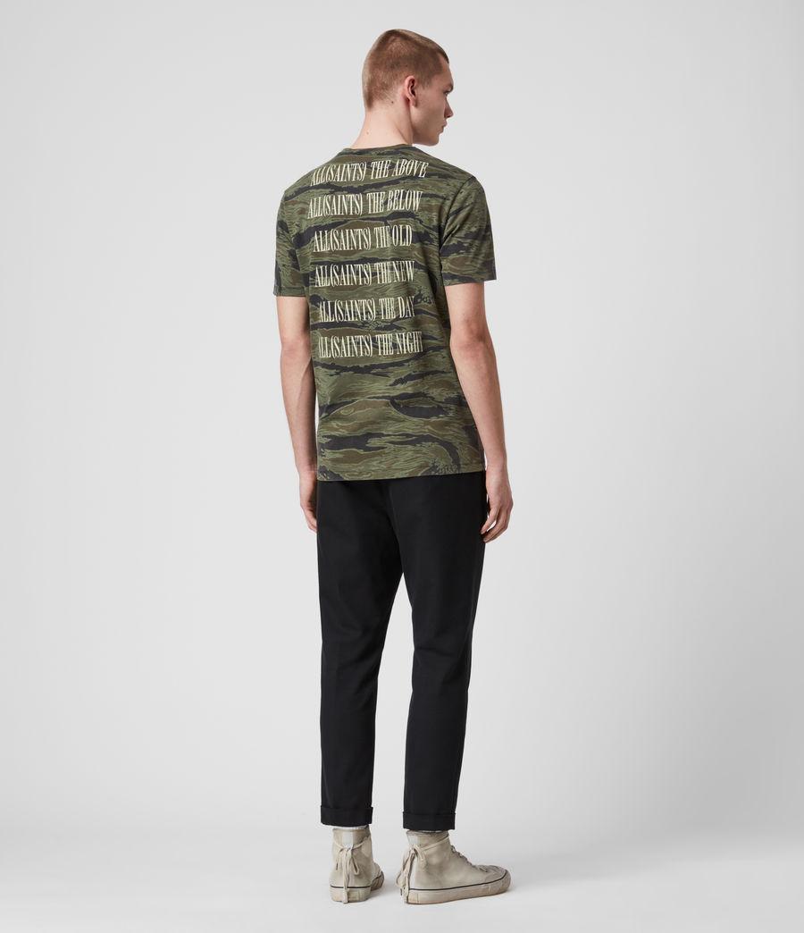 Hombres Stamp Camo Crew T-Shirt (tiger_camo_black) - Image 4