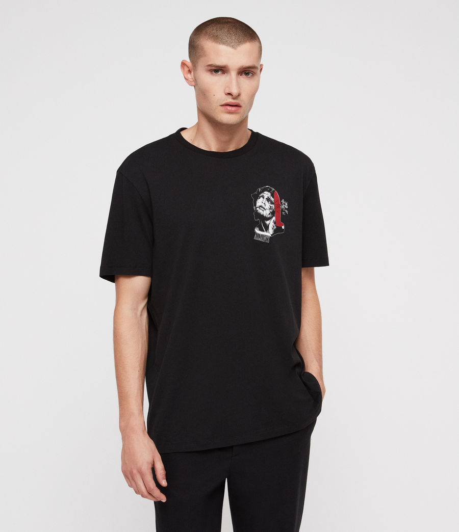 Hommes T-Shirt Cracked (jet_black) - Image 1