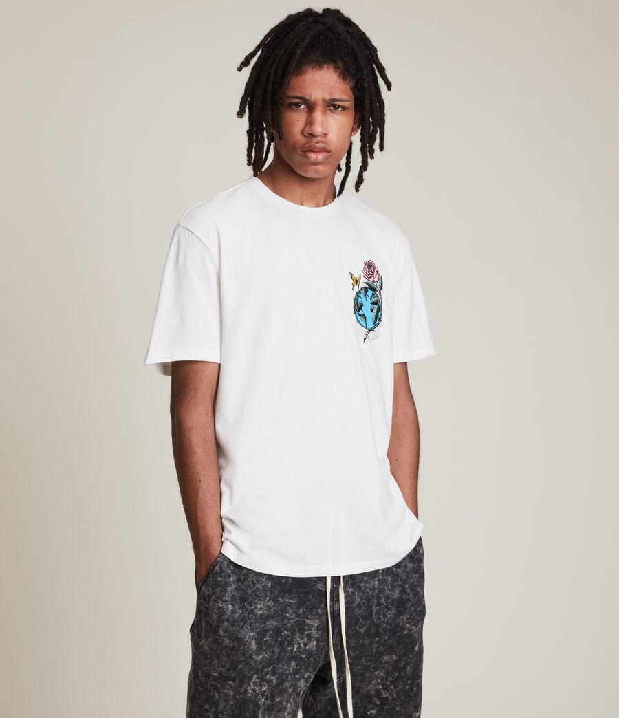 Men's Aquatique Crew T-Shirt (optic_white) - Image 1