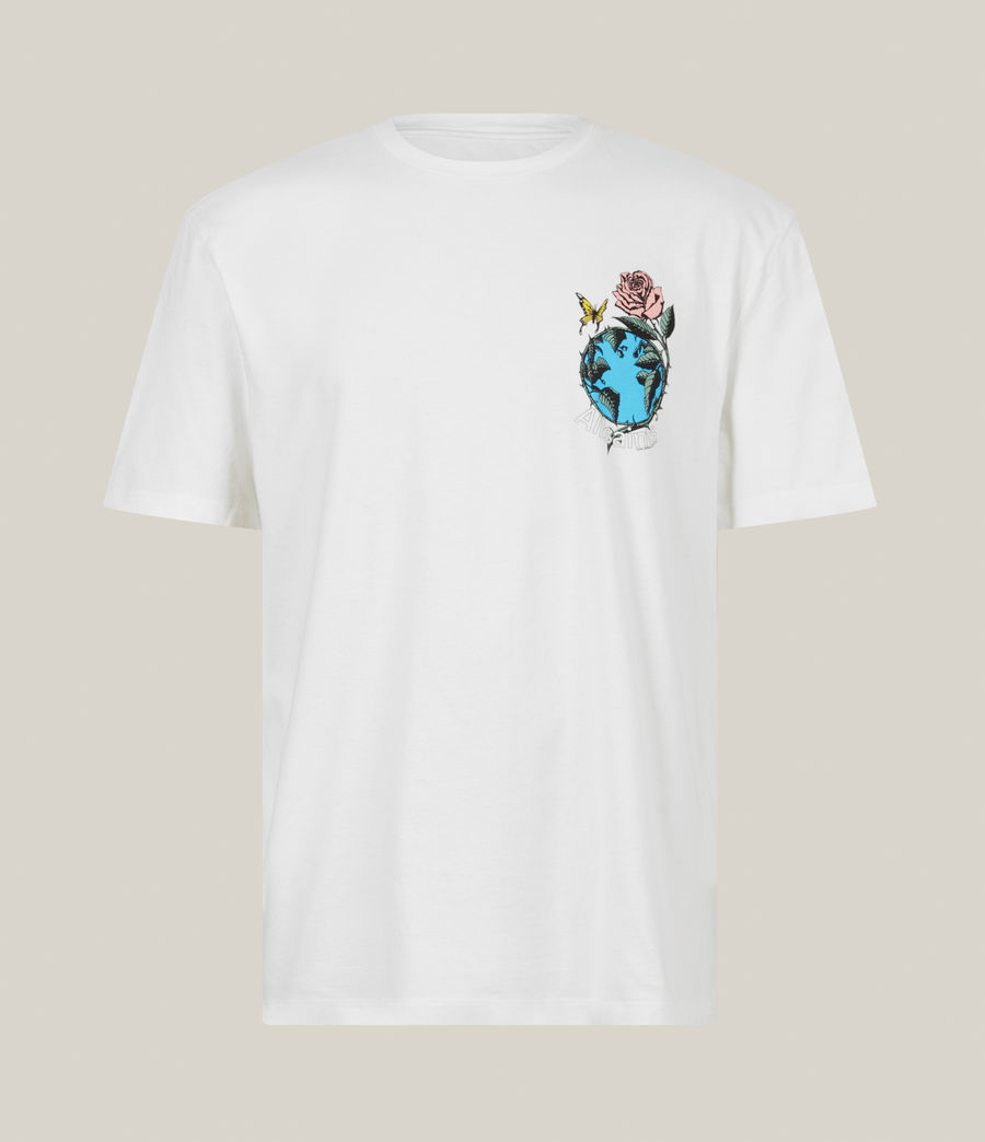 Men's Aquatique Crew T-Shirt (optic_white) - Image 2