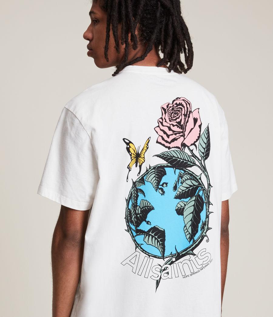 Men's Aquatique Crew T-Shirt (optic_white) - Image 4