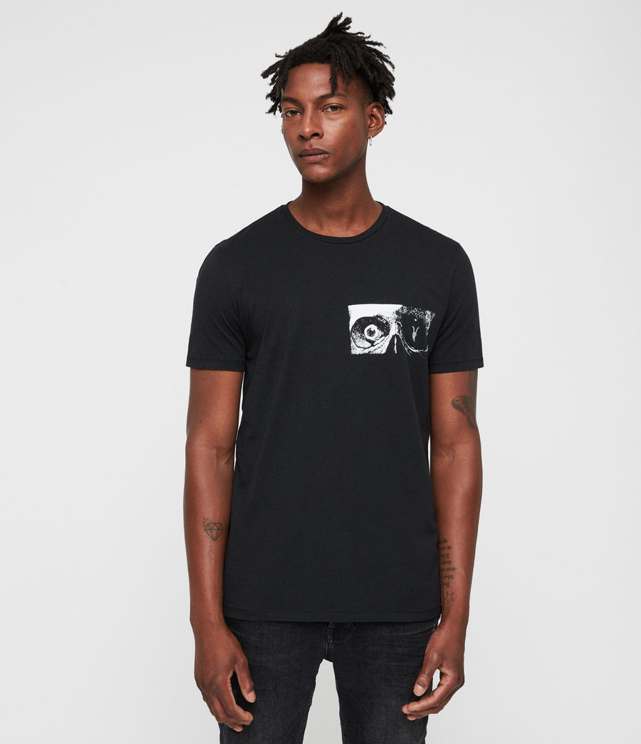 Men's Vision Crew T-Shirt (jet_black) - Image 1