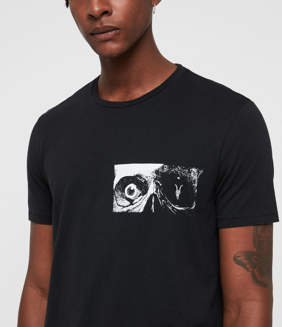 Men's Vision Crew T-Shirt (jet_black) - Image 2