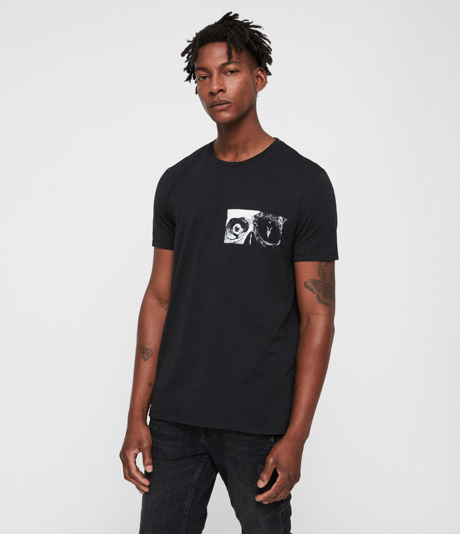 Men's Vision Crew T-Shirt (jet_black) - Image 3