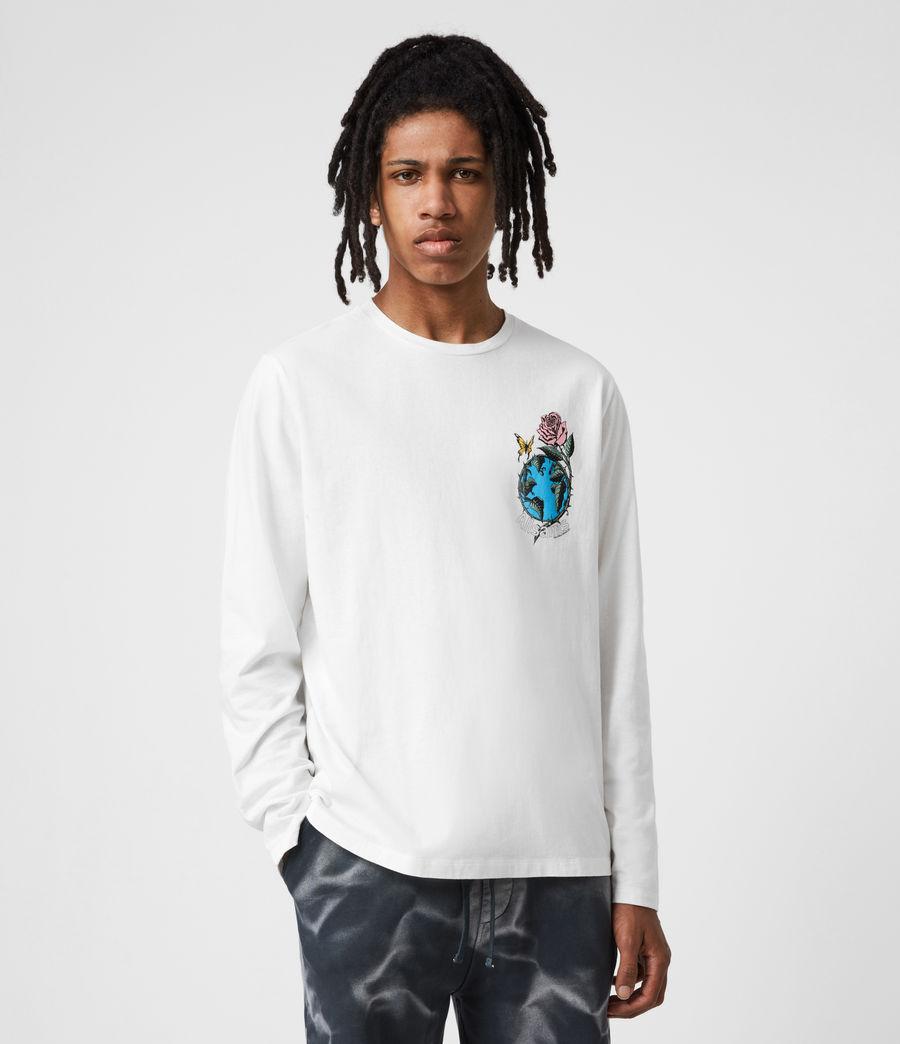 Men's Aquatique Crew T-Shirt (optic_white) - Image 7
