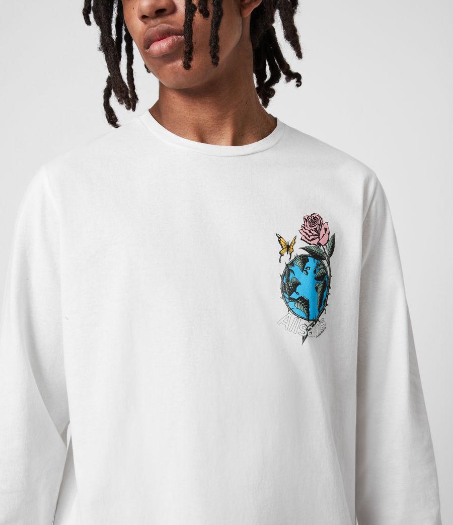 Men's Aquatique Crew T-Shirt (optic_white) - Image 8
