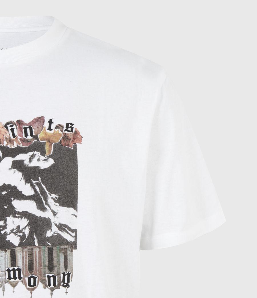 Herren Crypto Crew T-Shirt (optic_white) - Image 5
