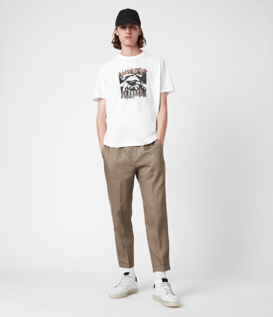 Herren Crypto Crew T-Shirt (optic_white) - Image 7