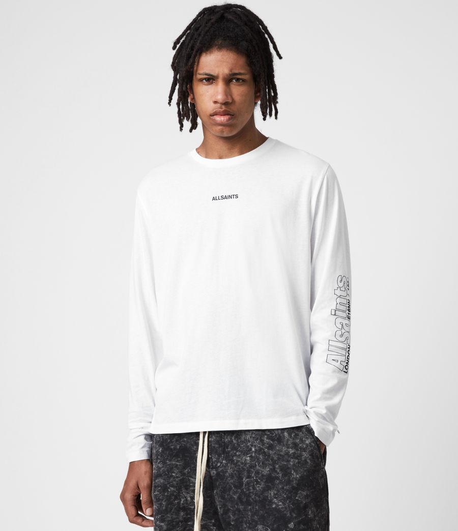 Men's Hollowpoint Long Sleeve Crew T-Shirt (optic_white) - Image 1