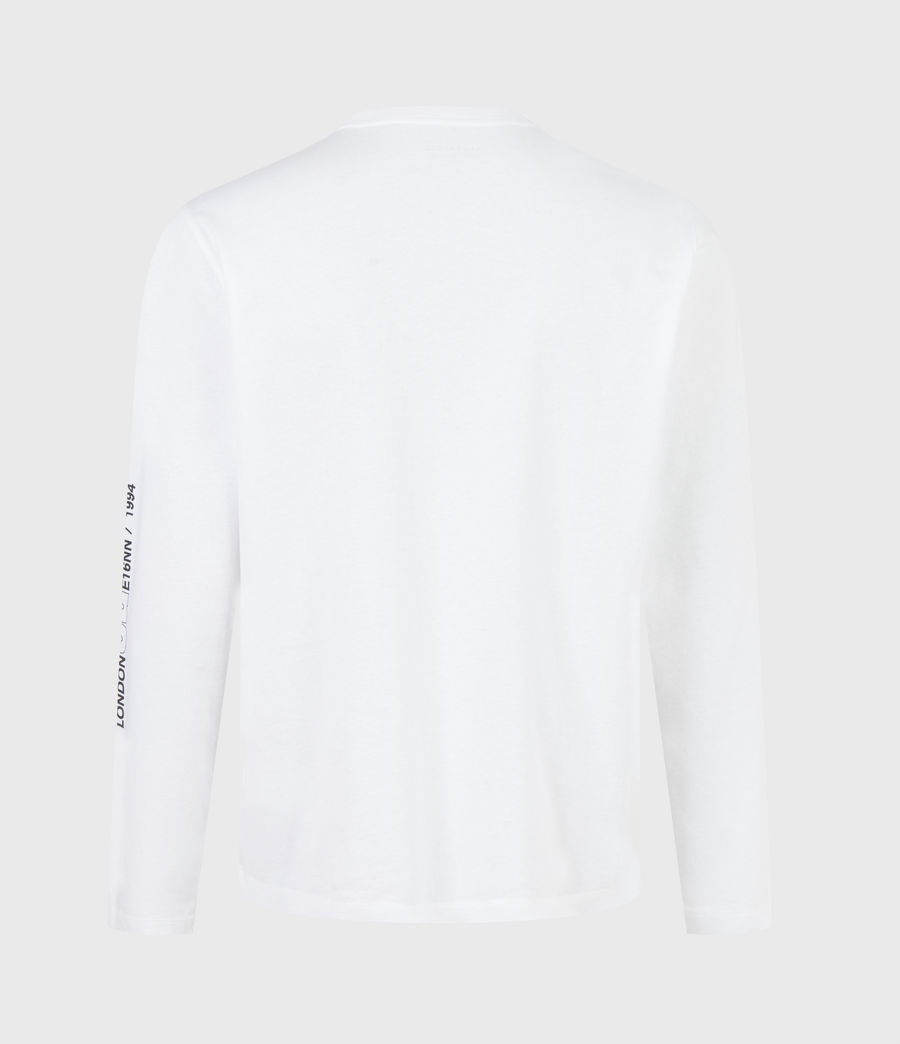 Men's Hollowpoint Long Sleeve Crew T-Shirt (optic_white) - Image 3