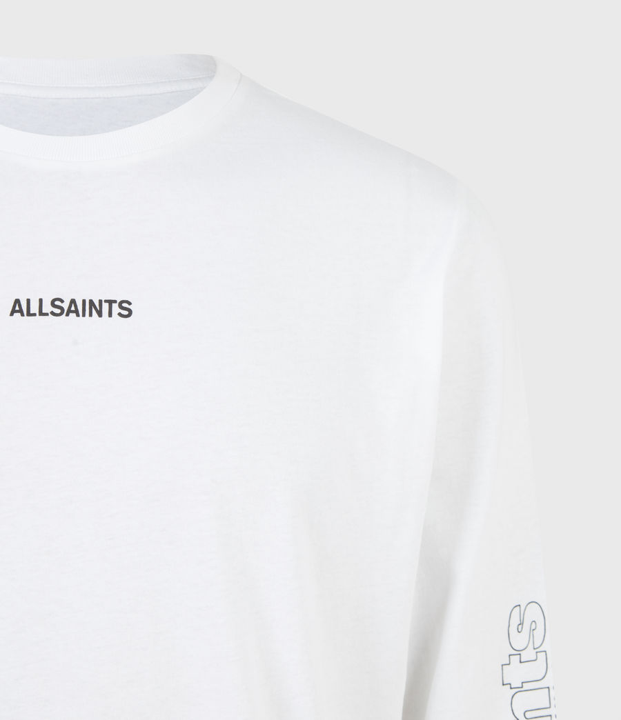 Men's Hollowpoint Long Sleeve Crew T-Shirt (optic_white) - Image 5