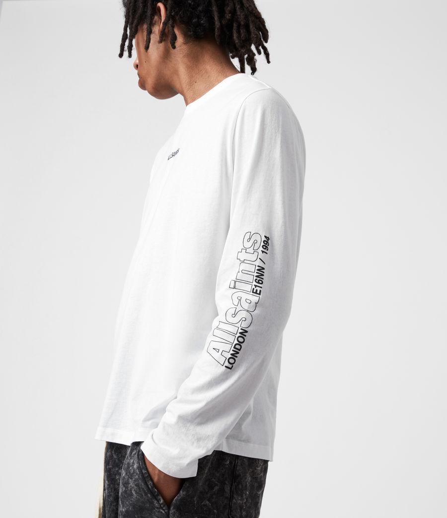 Men's Hollowpoint Long Sleeve Crew T-Shirt (optic_white) - Image 6