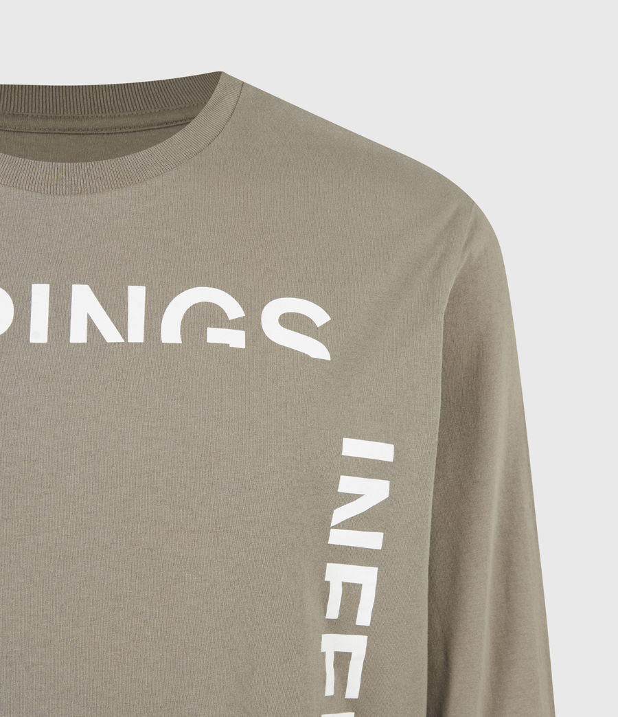Mens Infernal Crew T-Shirt (willow_taupe) - Image 5