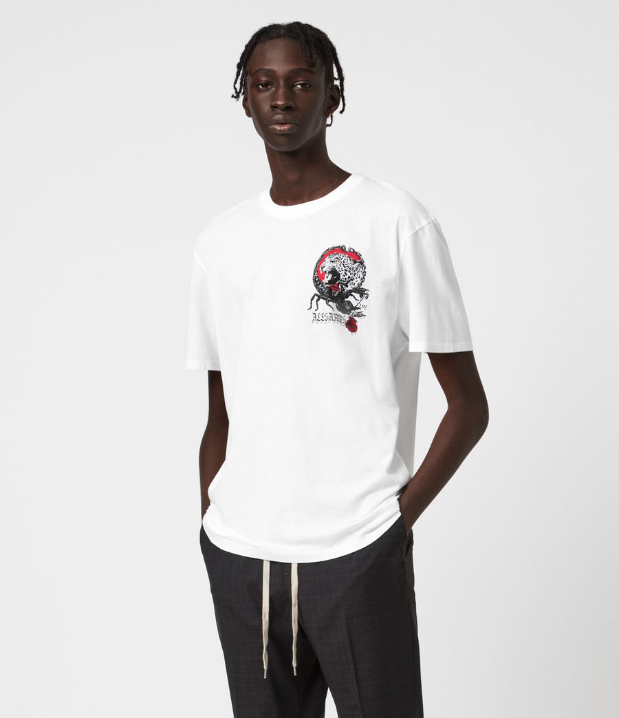 Herren Trophy Crew T-Shirt (optic_white) - Image 1