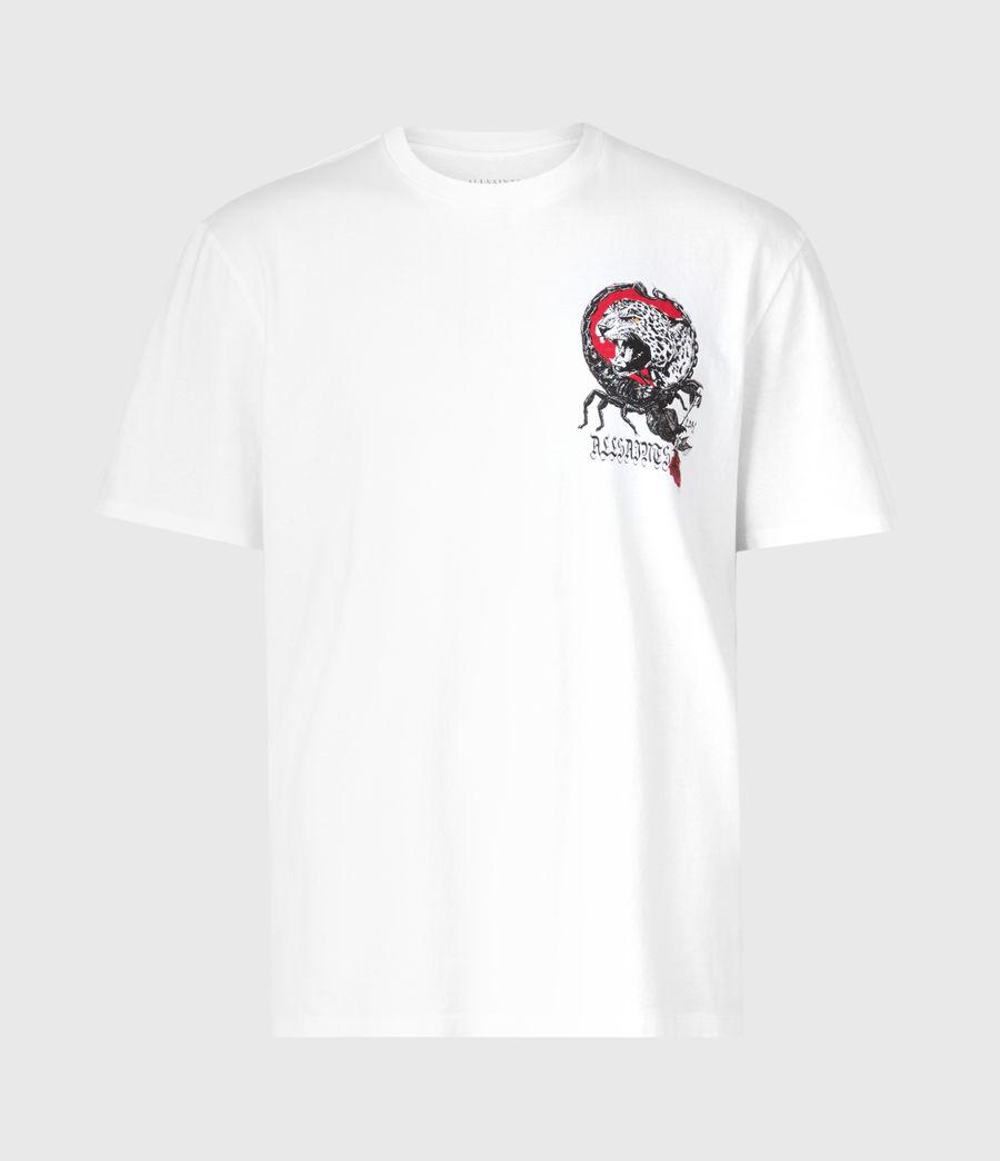 Herren Trophy Crew T-Shirt (optic_white) - Image 3