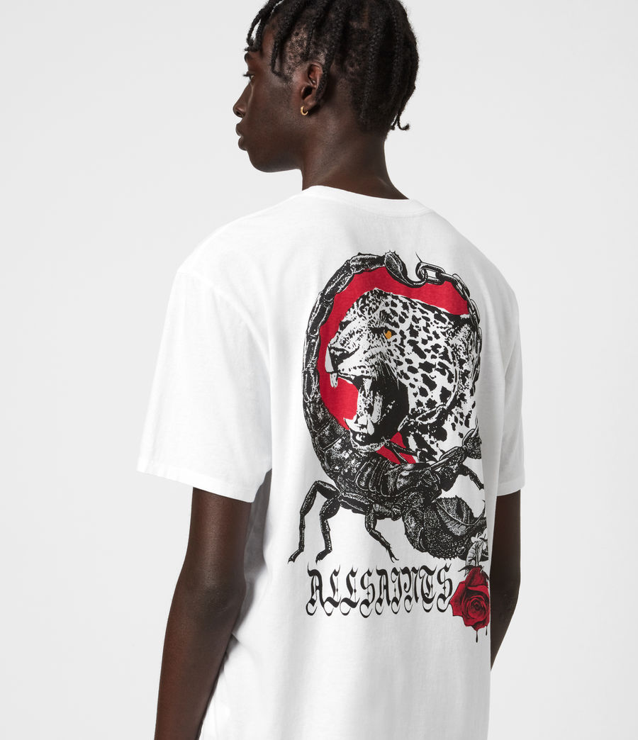 Herren Trophy Crew T-Shirt (optic_white) - Image 4