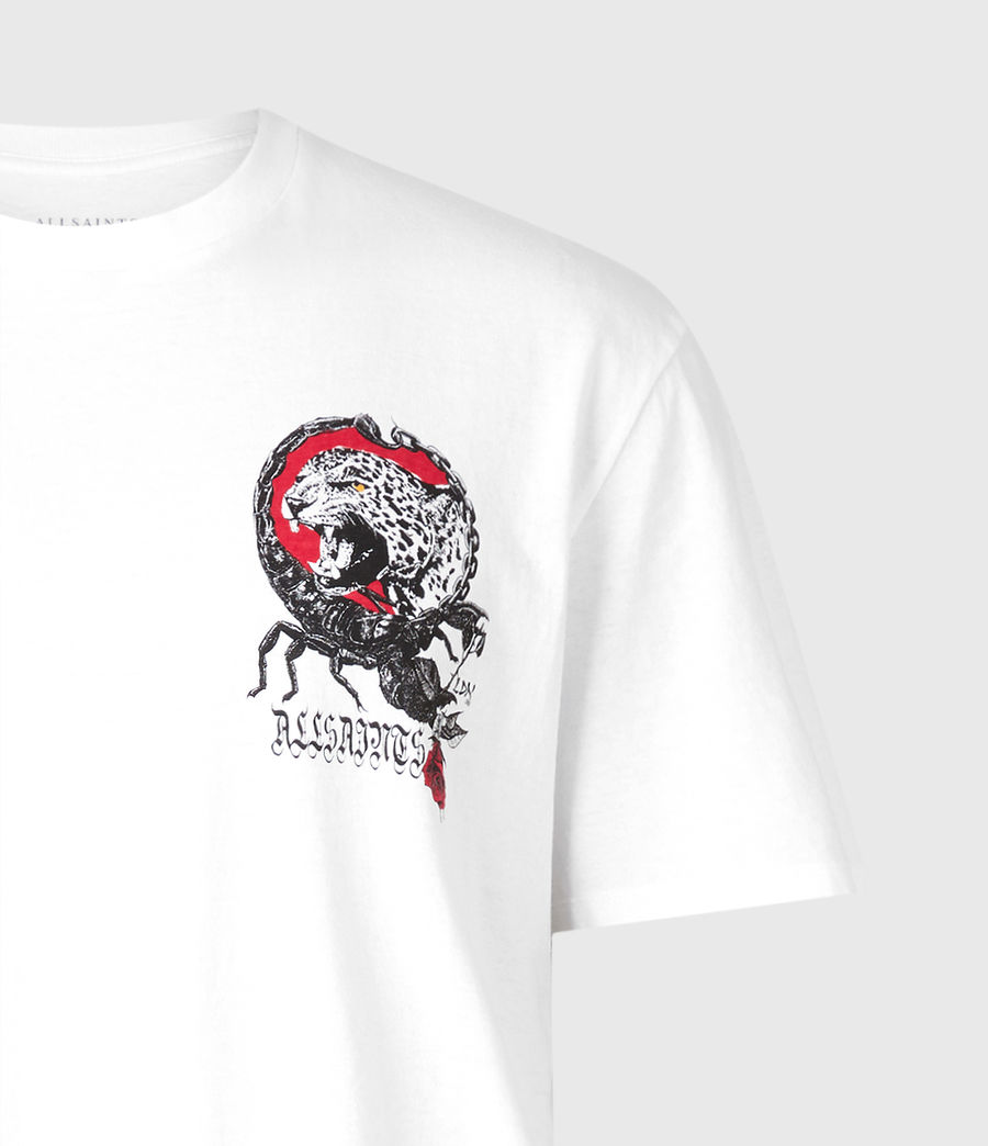 Herren Trophy Crew T-Shirt (optic_white) - Image 5