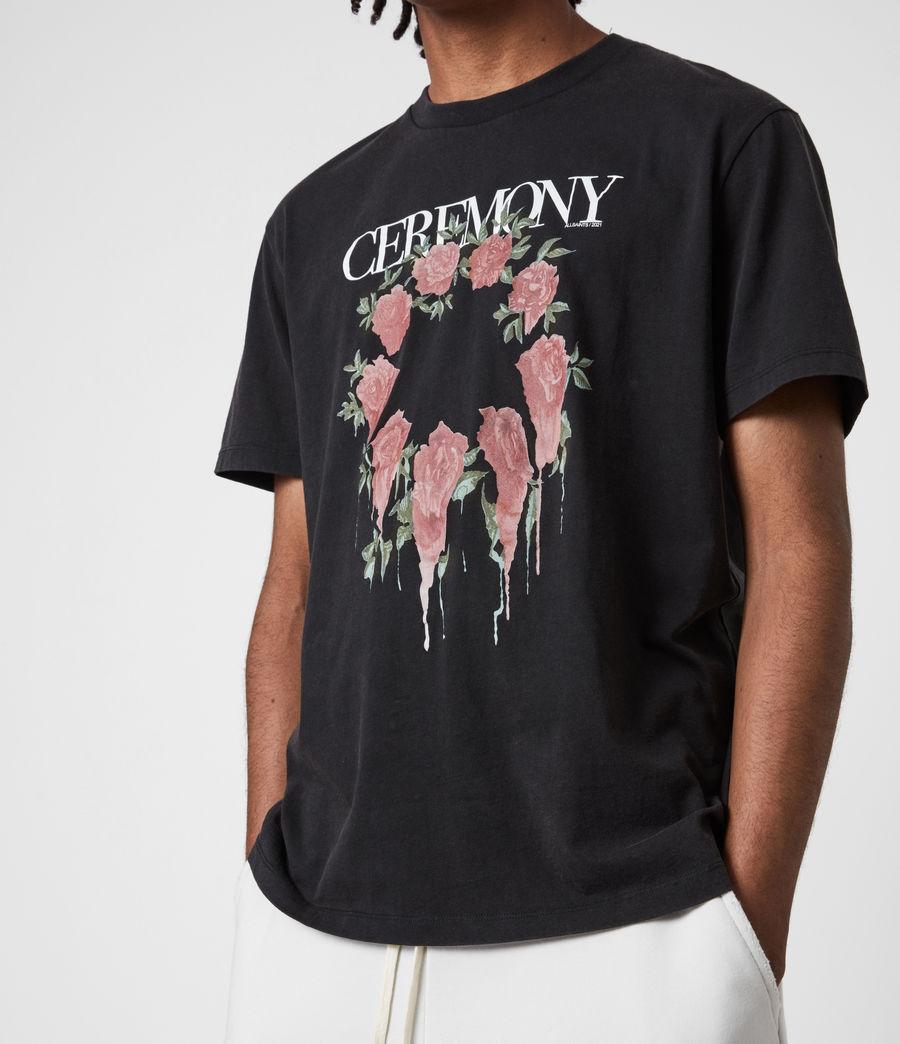Hommes Ceremony Crew T-Shirt (jet_black) - Image 4