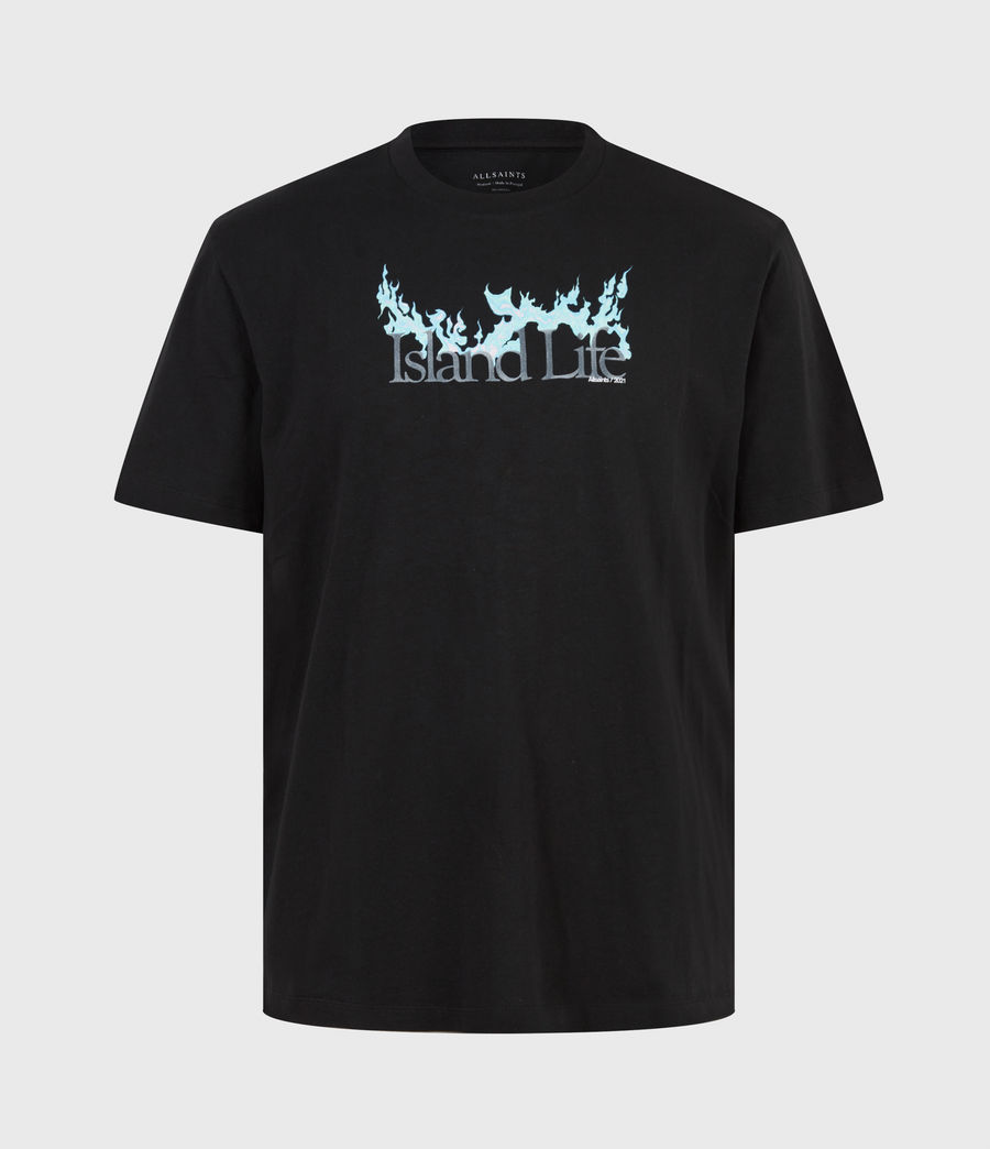 Men's Island Life Crew T-Shirt (jet_black) - Image 2
