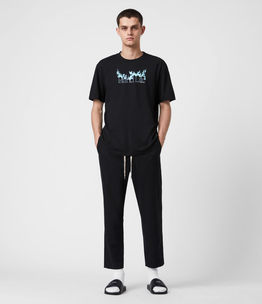 Men's Island Life Crew T-Shirt (jet_black) - Image 4