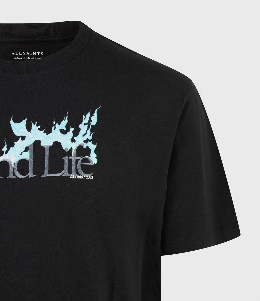 Men's Island Life Crew T-Shirt (jet_black) - Image 5