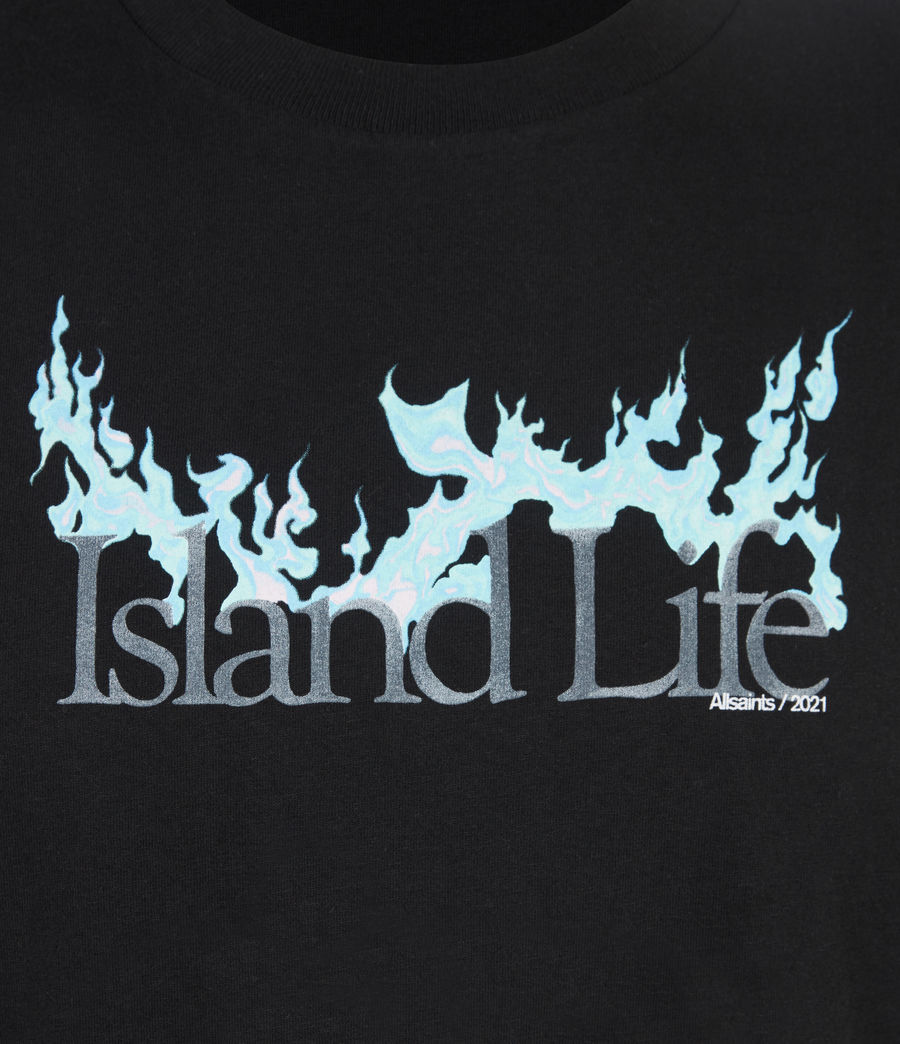 Men's Island Life Crew T-Shirt (jet_black) - Image 6