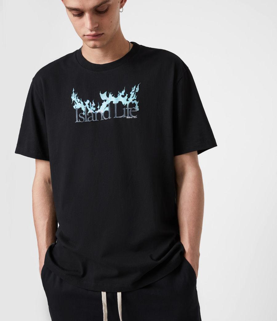 Men's Island Life Crew T-Shirt (jet_black) - Image 7
