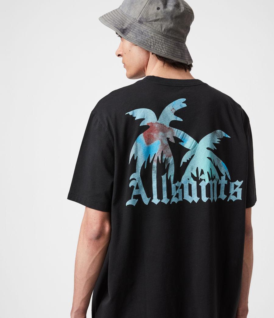 Mens Malibeau Crew T-Shirt (jet_black) - Image 4