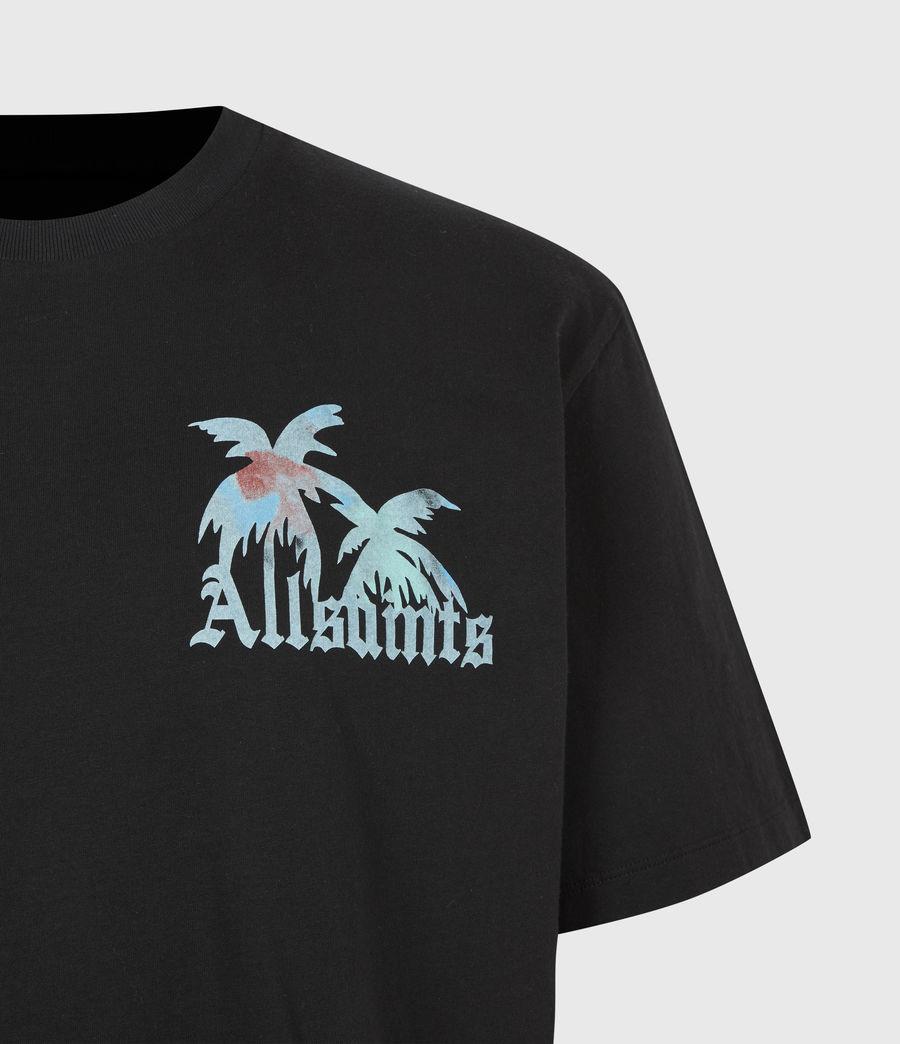 Mens Malibeau Crew T-Shirt (jet_black) - Image 5