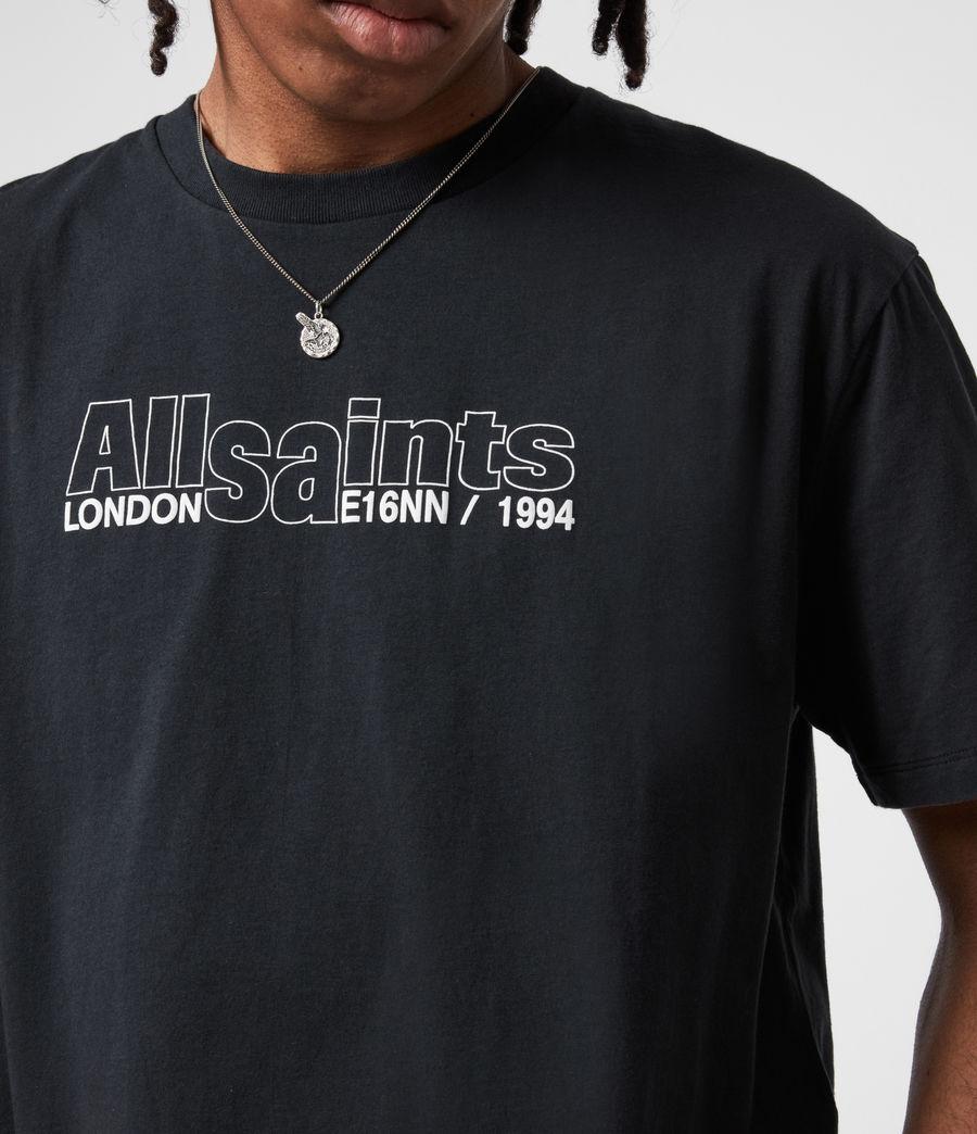 Mens Hollowpoint Crew T-Shirt (jet_black) - Image 4
