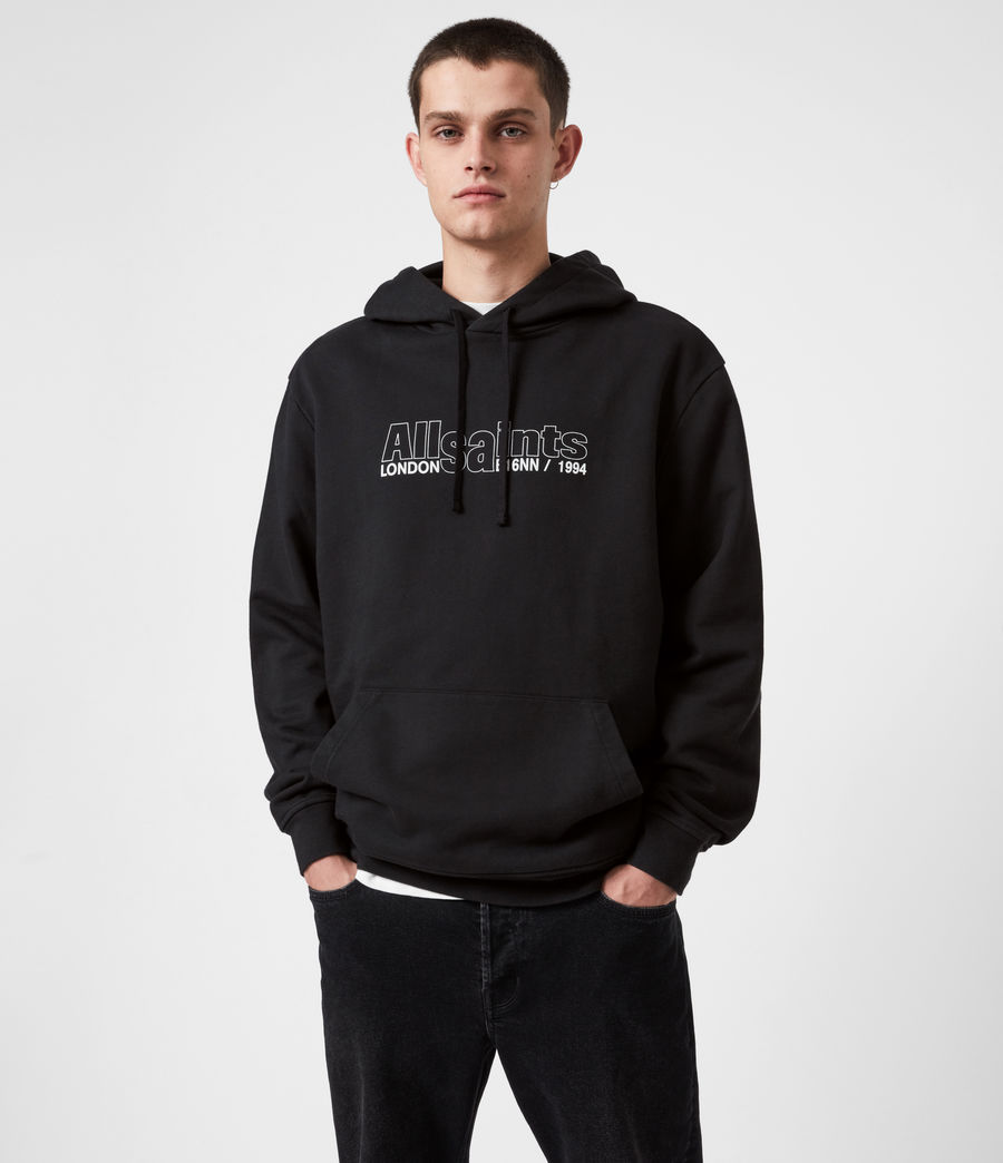Hommes Hollowpoint Pullover Hoodie (jet_black) - Image 1