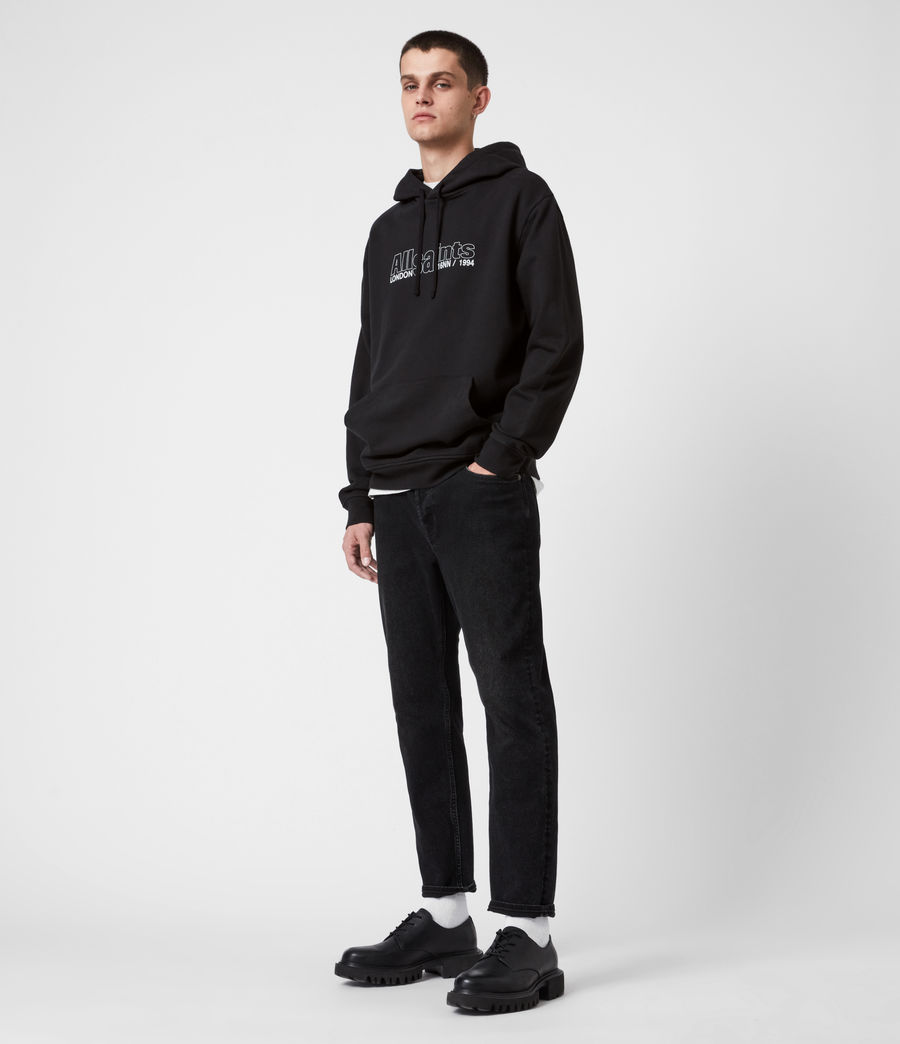 Hommes Hollowpoint Pullover Hoodie (jet_black) - Image 4