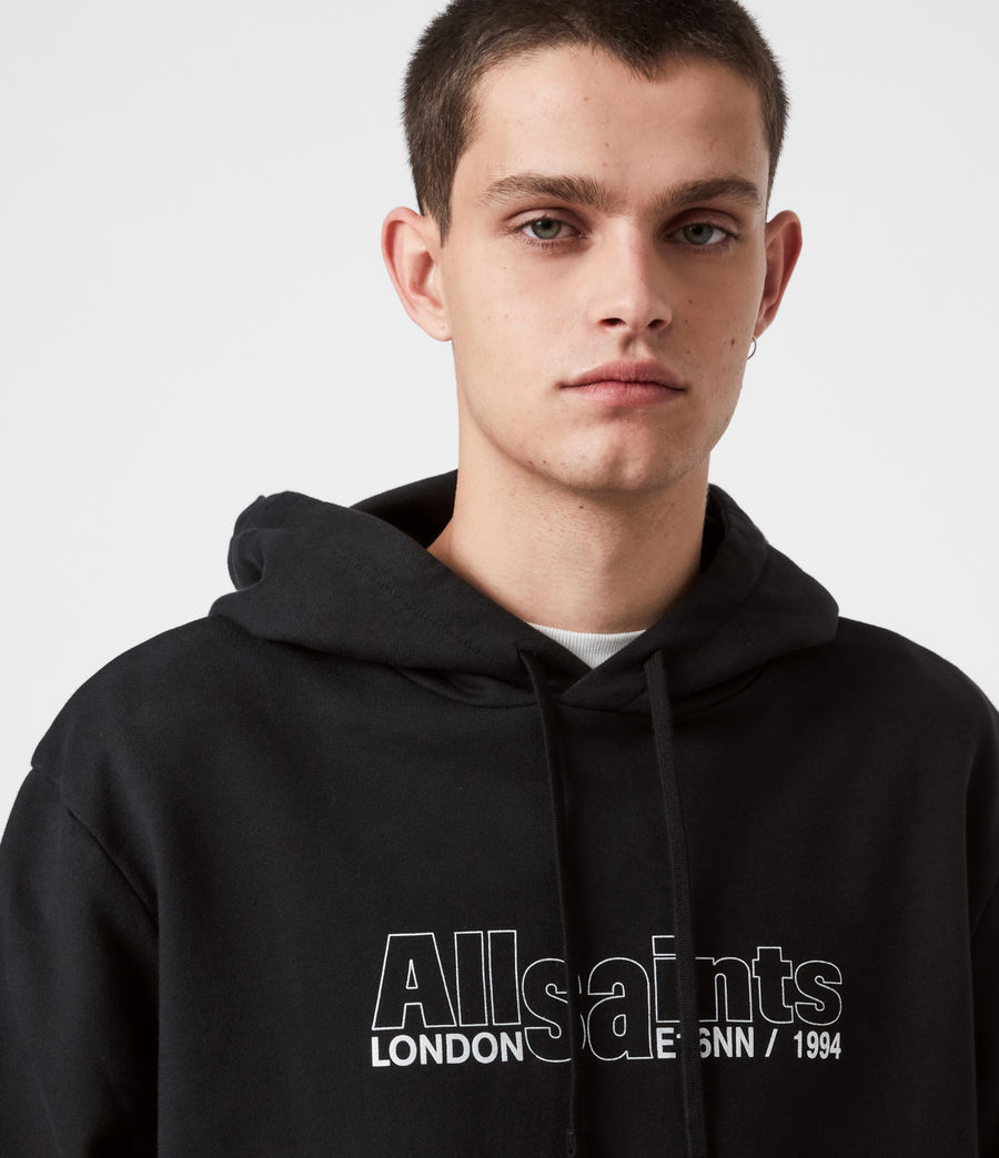 Hommes Hollowpoint Pullover Hoodie (jet_black) - Image 6