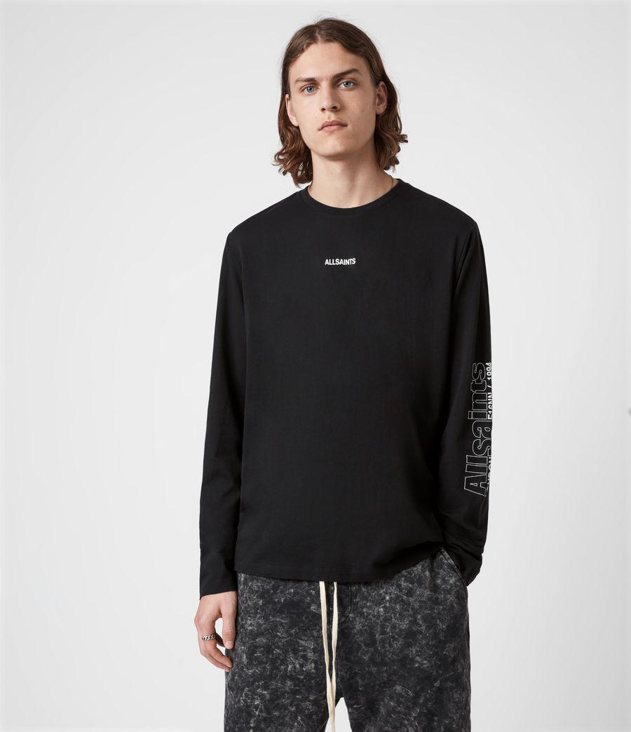 Men's Hollowpoint Long Sleeve Crew T-Shirt (jet_black) - Image 1
