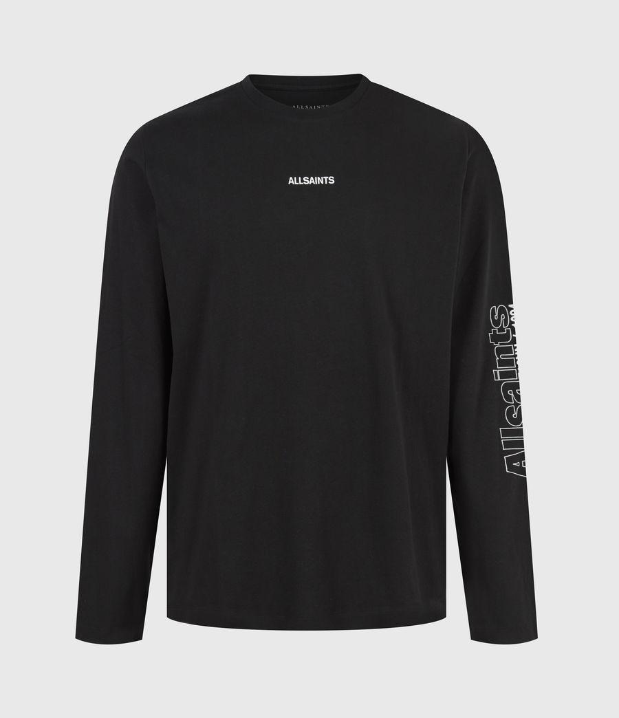 Men's Hollowpoint Long Sleeve Crew T-Shirt (jet_black) - Image 2