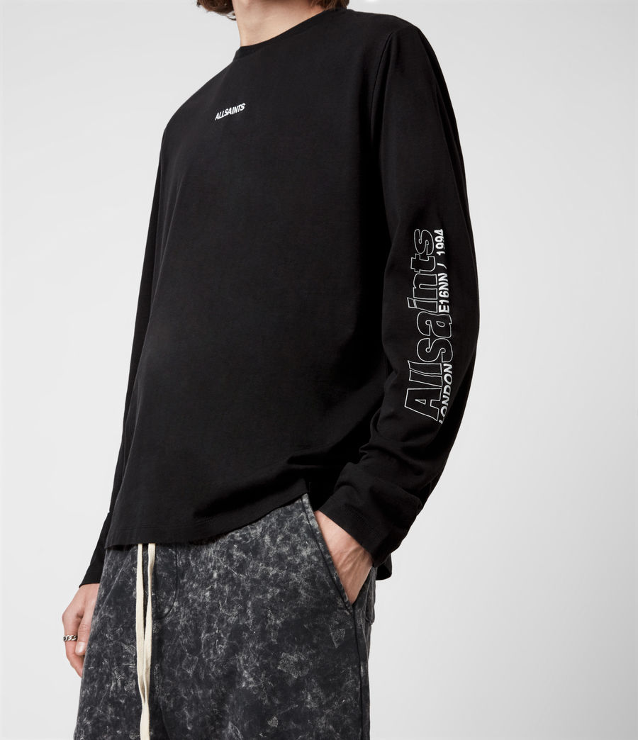 Men's Hollowpoint Long Sleeve Crew T-Shirt (jet_black) - Image 4