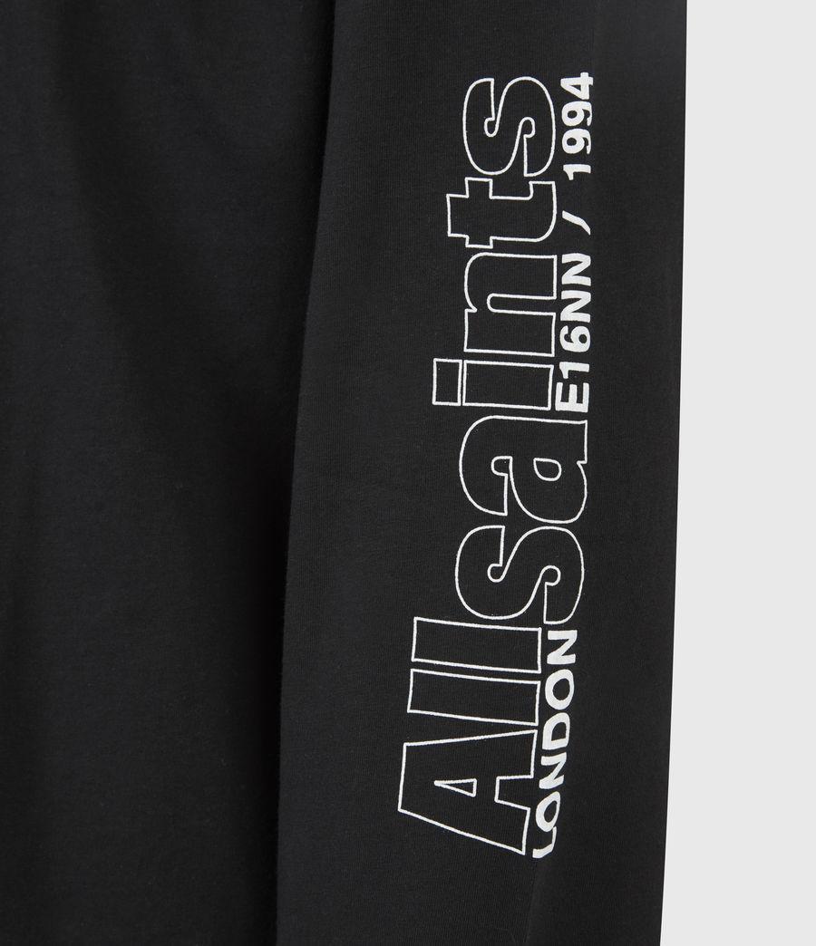 Men's Hollowpoint Long Sleeve Crew T-Shirt (jet_black) - Image 6