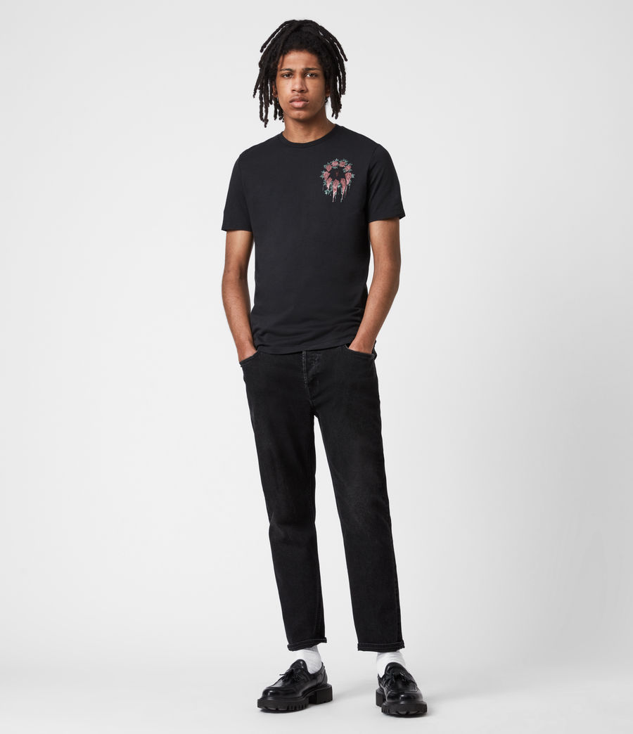 Men's Ceremony Brace Crew T-Shirt (jet_black) - Image 6