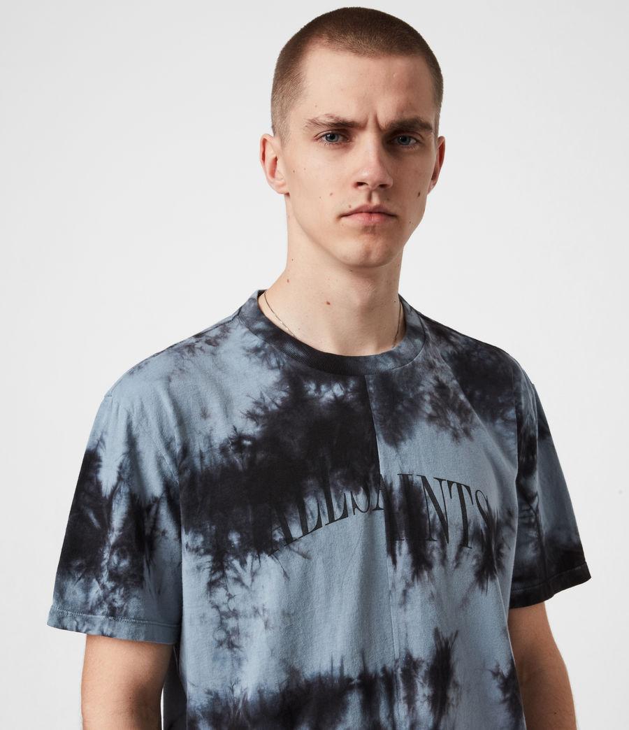 Herren Dropout Batik T-Shirt (washed_black) - Image 4