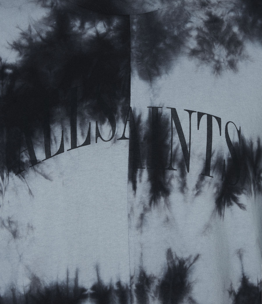 Herren Dropout Batik T-Shirt (washed_black) - Image 6