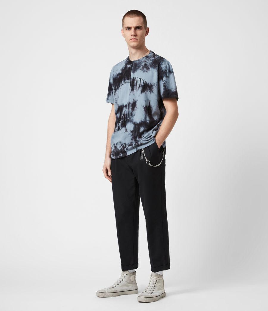 Herren Dropout Batik T-Shirt (washed_black) - Image 7