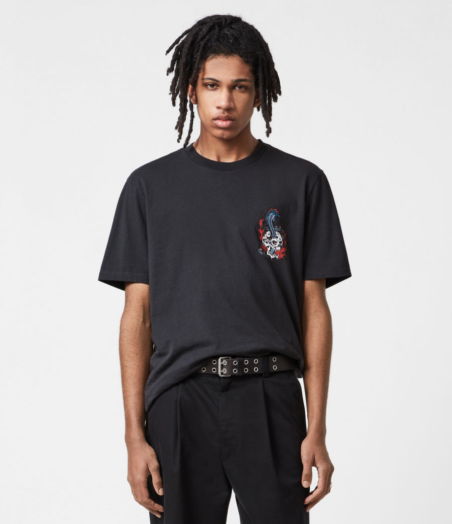 Mens Viper Crew T-Shirt (washed_black) - Image 4