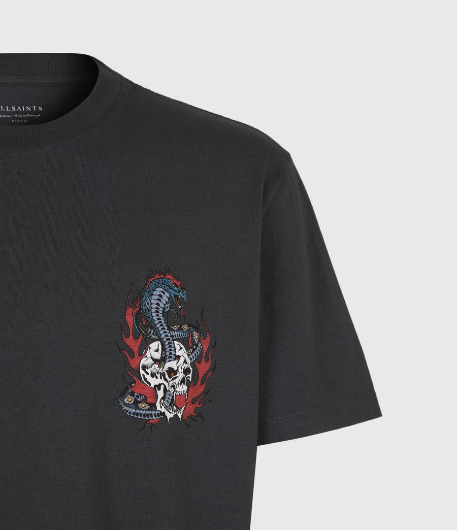 Mens Viper Crew T-Shirt (washed_black) - Image 5