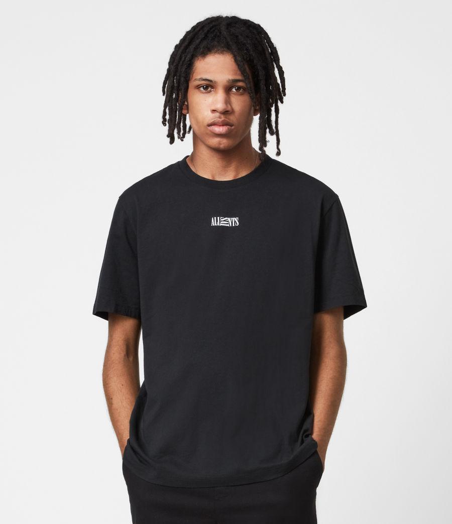 Mens Opposition Crew T-Shirt (jet_black) - Image 1