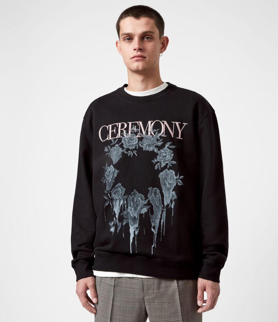 Men's Vincente Crew Sweatshirt (jet_rose_ash_pink) - Image 1
