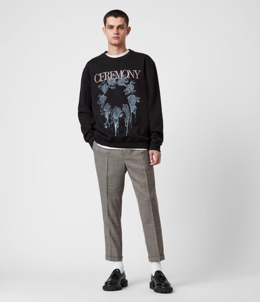 Men's Vincente Crew Sweatshirt (jet_rose_ash_pink) - Image 4