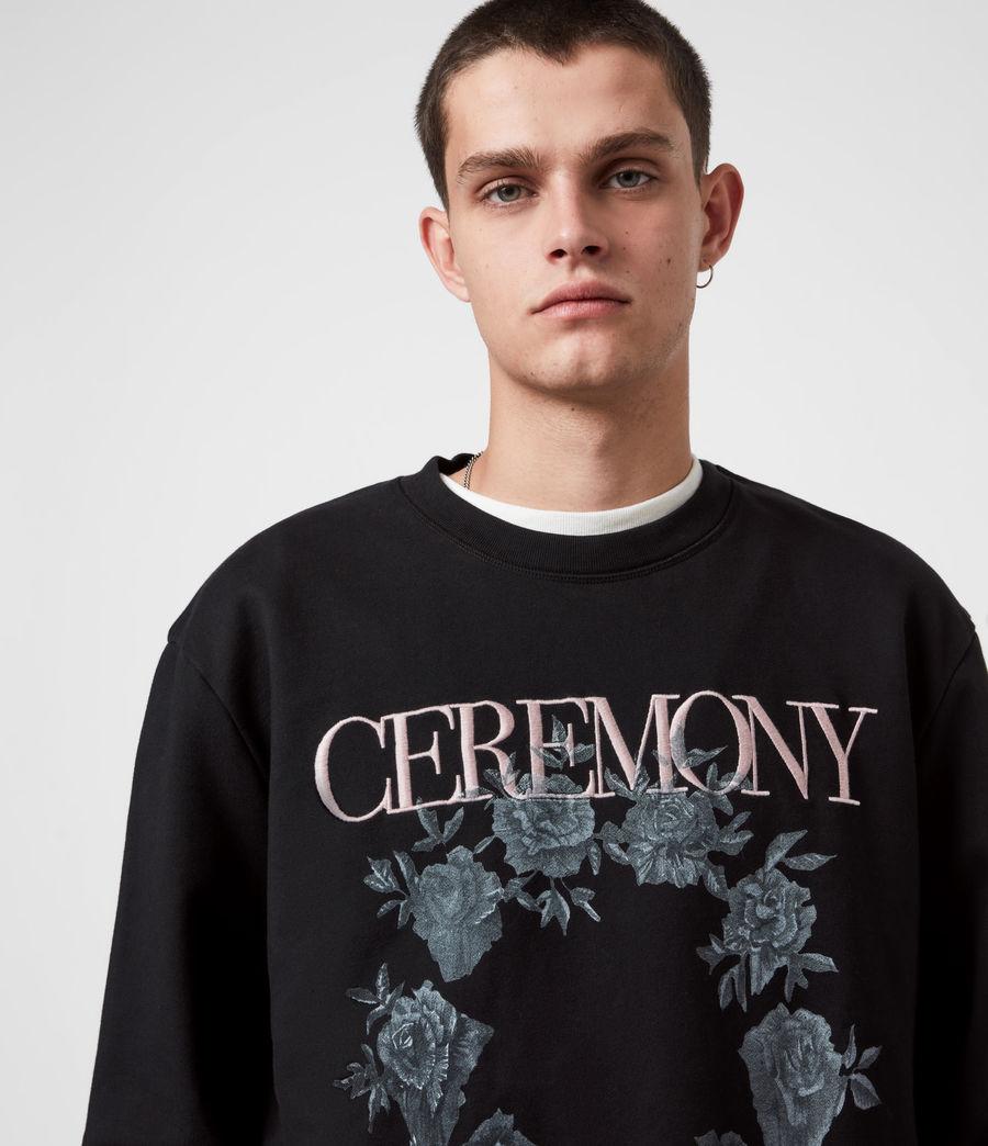Men's Vincente Crew Sweatshirt (jet_rose_ash_pink) - Image 7