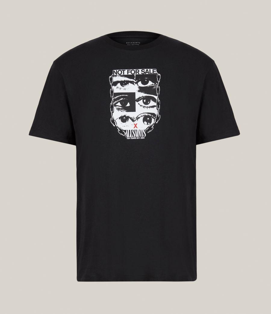 Men's Not For Sale Optix Unisex Crew T-Shirt (jet_black) - Image 1